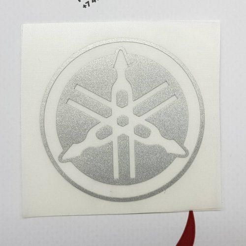 Наклейка Белый Логотип Камертон Yamaha