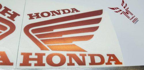 Наклейка Крылья Honda красный хром