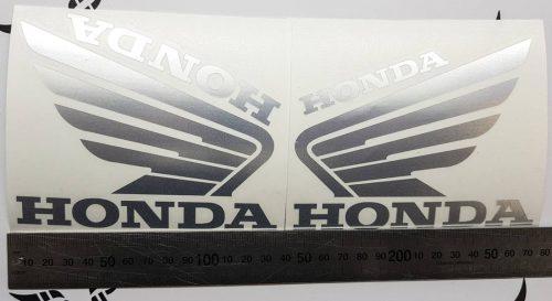 Наклейка Крылья Honda Хром
