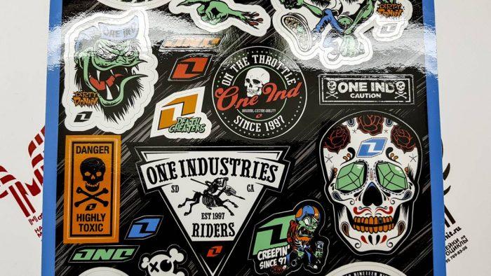 Лист с наклейками One Industries
