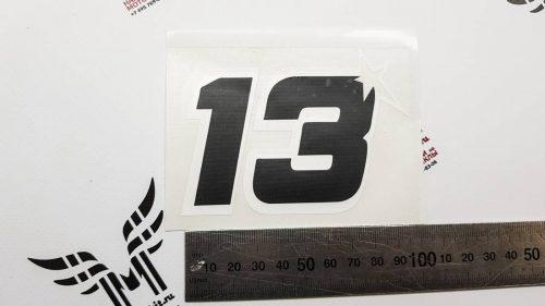 Наклейка Цифры 13