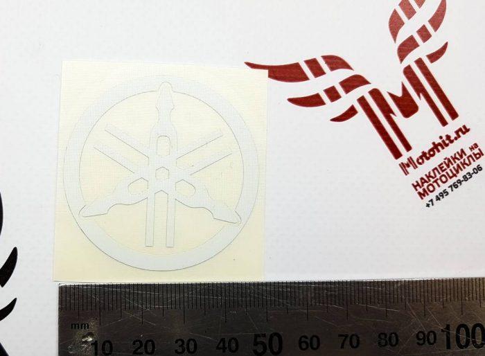Наклейка Камертон Yamaha Белый