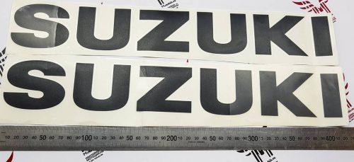 Наклейка Большая чёрная надпись SUZUKI