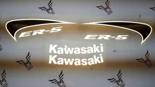 Комплект наклеек Kawasaki ER-5 светоотражайка