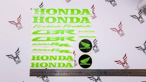 Комплект зелёных неоновых наклеек Honda Fireblade 1000rr