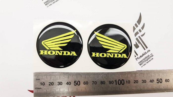 Крылья Honda со смолой жёлтый неон