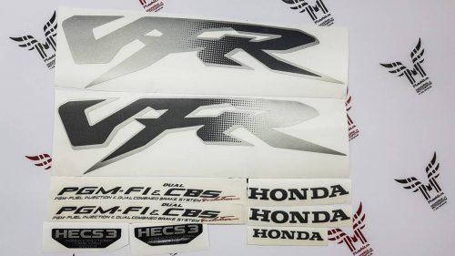 Серебристый комплект наклеек Honda VRF PGM-F1