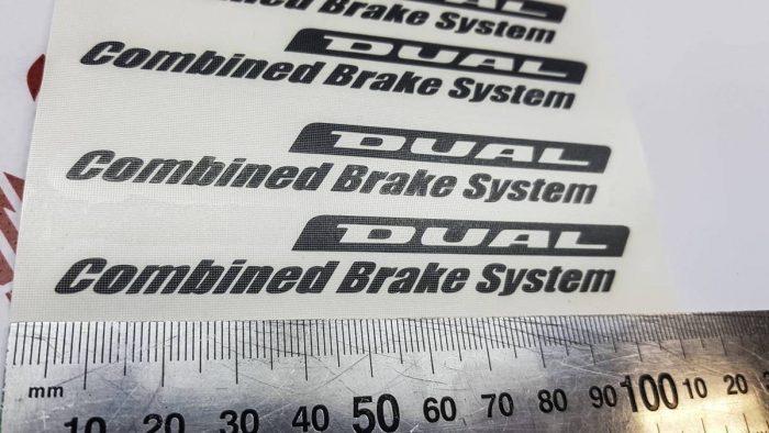 Наклейки Honda Dual Combined Brake system