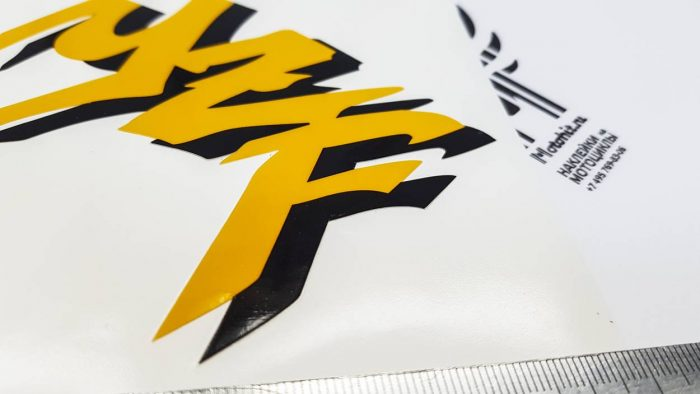 Наклейки Yamaha YZF Graffiti с чёрной тенью