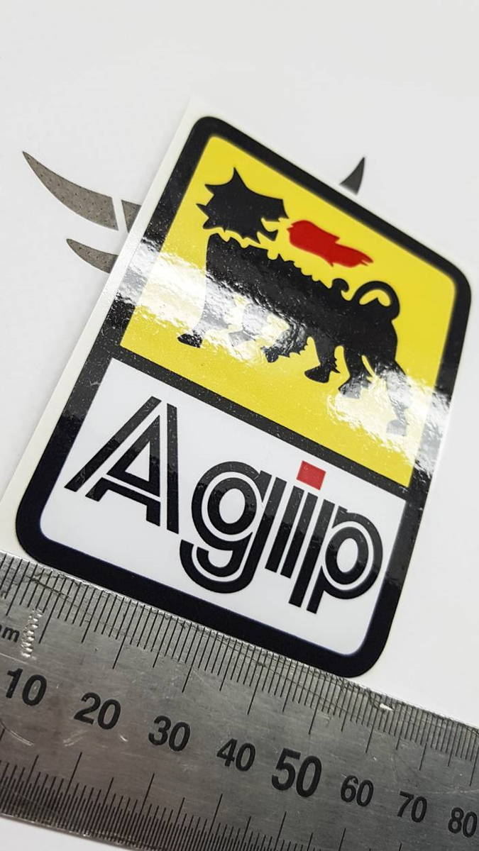Наклейка с логотипом AGIP 5см