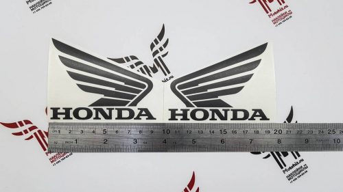 Чёрный Комплект наклеек Honda WINGS-08 (9см)