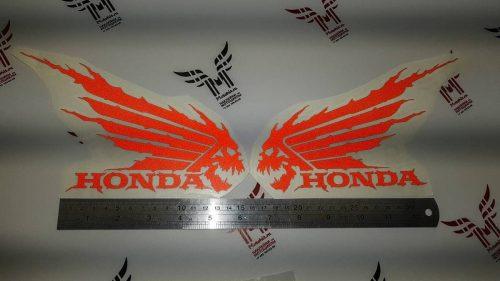Красный светоотражающий Комплект наклеек Honda WINGS-09 (15см)