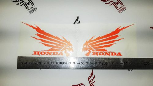 Красный Комплект наклеек Honda WINGS-09