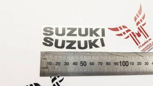 Наклейки надписи Suzuki на обтекатель и хвост