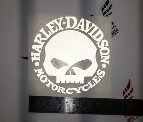 Наклейка HARLEY DAVIDSON SKULL 12см