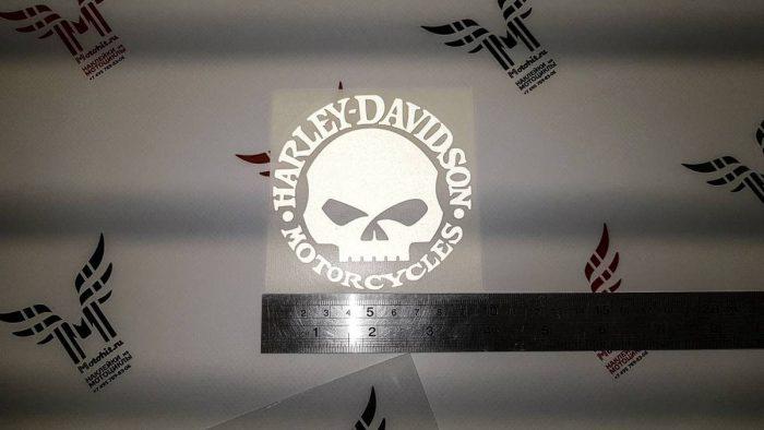 Наклейка HARLEY DAVIDSON SKULL 9см