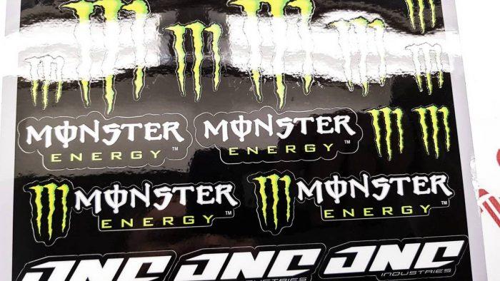 Лист наклеек MONSTER ENERGY TIN