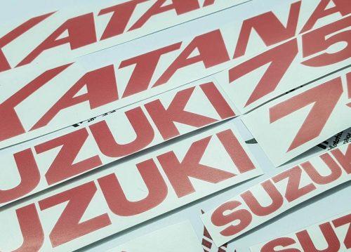 Комплект наклеек SUZUKI GSX-750 2003 KATANA