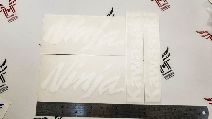Белые Наклейки Kawasaki NINJA