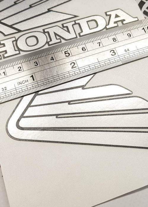 Комплект наклеек Крылья Honda на бак 10см