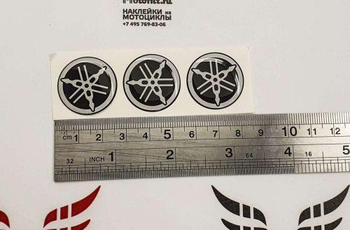 Объёмные наклейки логотипы Yamaha на бак 25мм