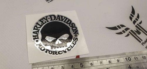 Хромовая наклейка Harley Davidson Scull