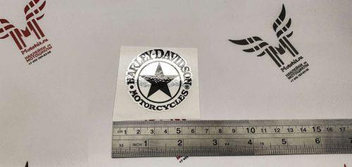 Хромовая наклейка Harley Davidson Star