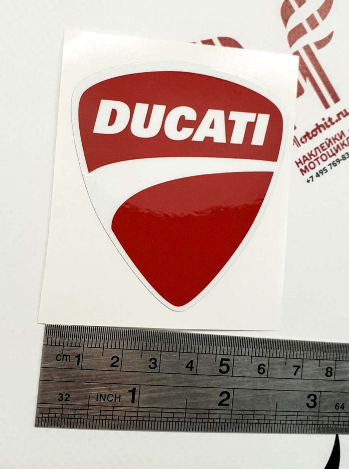 Наклейка DUCATI LOGO RED
