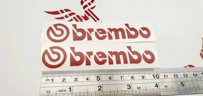 Наклейка с логотипом BREMBO