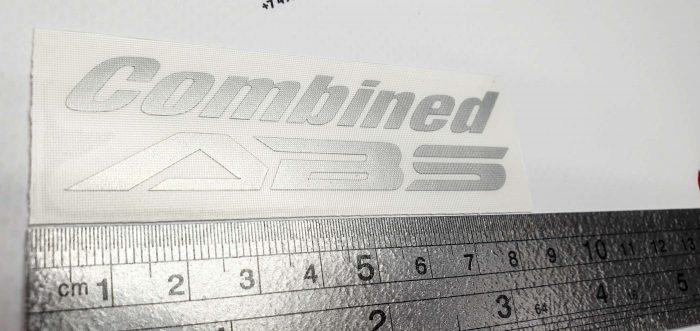 Наклейка Combined ABS 8см