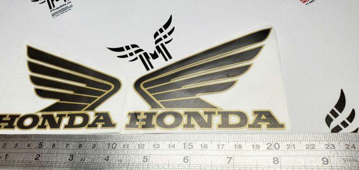 Комплект крыльев Honda 10см с золотым кантом