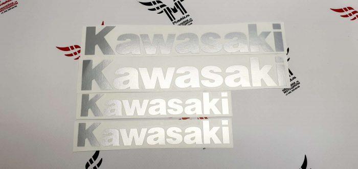 Комплект хром наклеек Kawasaki