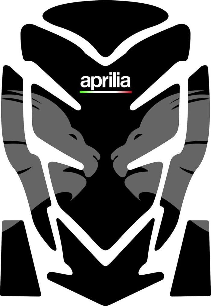 3D Наклейка на бак Aprilia Silver Lion 012