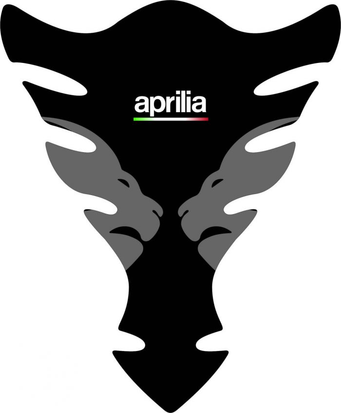 3D Наклейка на бак Aprilia Silver Lion 015