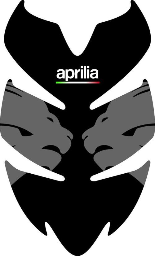 3D Наклейка на бак Aprilia Silver Lion 024