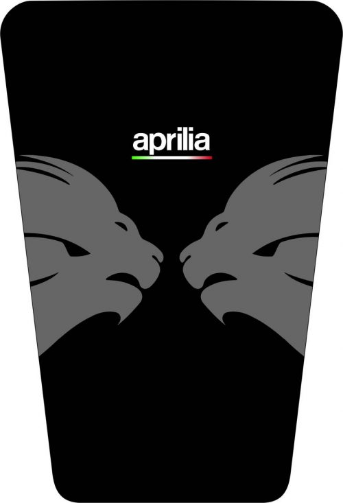 3D Наклейка на бак Aprilia Silver Lion 033
