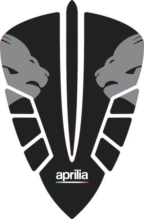 3D Наклейка на бак Aprilia Silver Lion 051