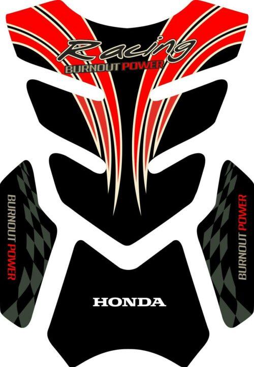 3D объёмная наклейка на бак honda-racing
