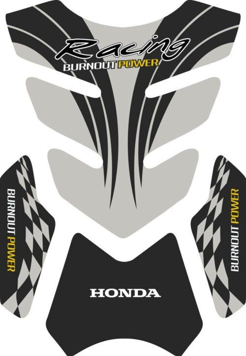 3D объёмная наклейка на бак honda-racing-grey