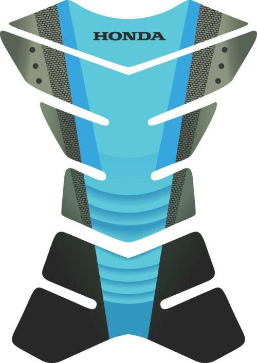 3D объёмная наклейка на бак honda-blue