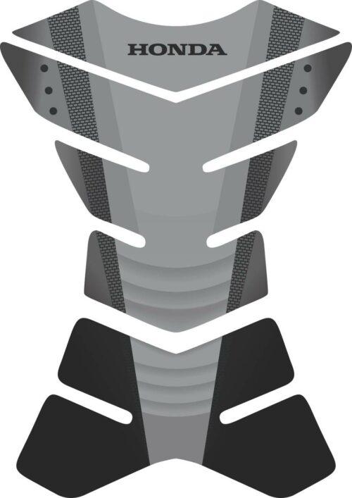 3D объёмная наклейка на бак Honda-grey