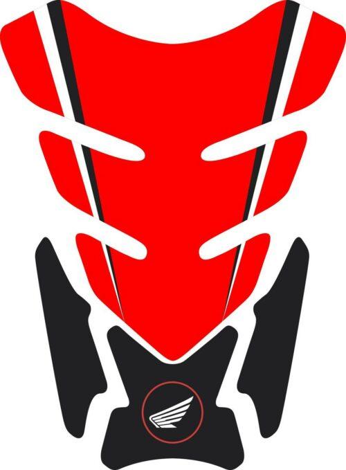 3D объёмная наклейка на бак Honda-red-black-001