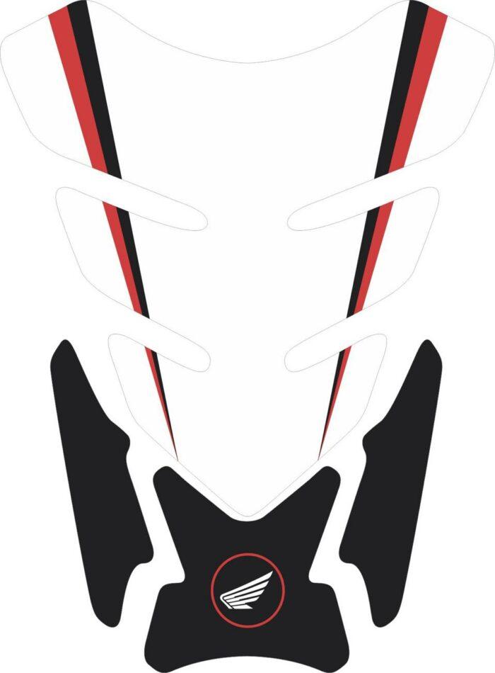 3D объёмная наклейка на бак Honda-white-black-002