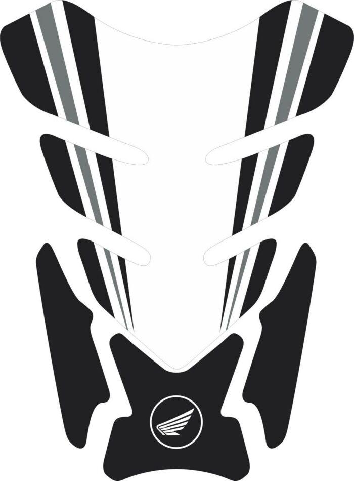 3D объёмная наклейка на бак Honda-white-black-003