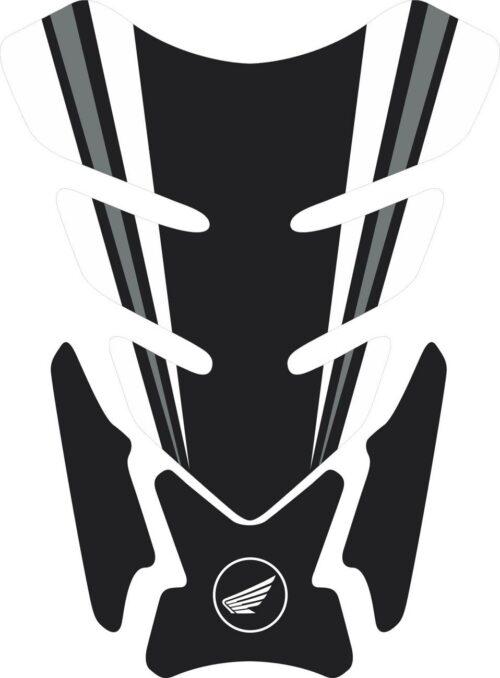3D объёмная наклейка на бак Honda-black-white-004