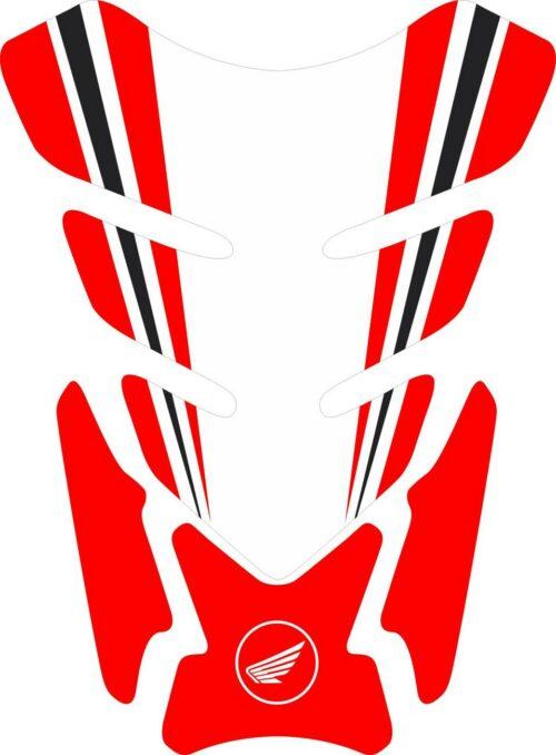 3D объёмная наклейка на бак Honda-white-red-004