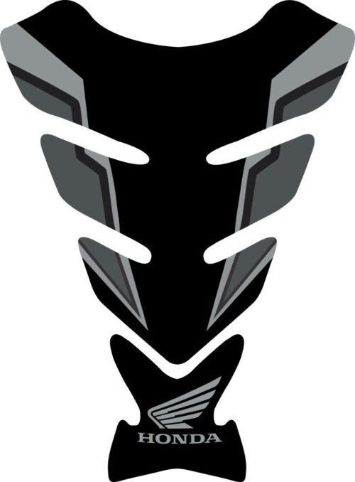 3D объёмная наклейка на бак Honda-black-grey