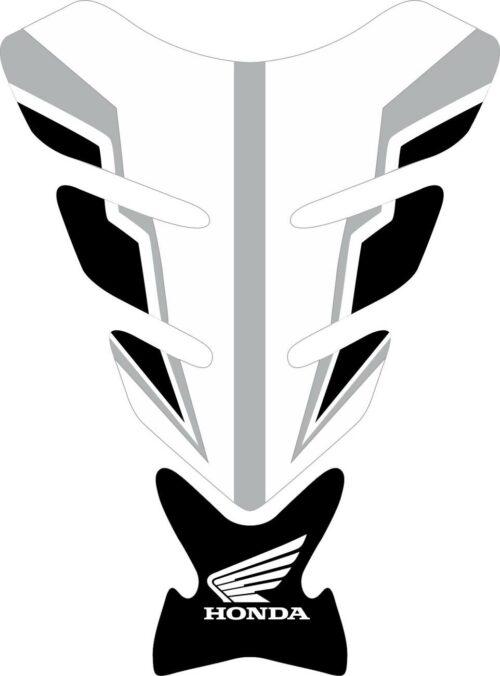 3D объёмная наклейка на бак Honda-white-black-grey