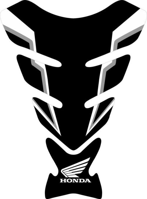 3D объёмная наклейка на бак Honda-black-grey-white