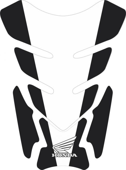 3D объёмная наклейка на бак Honda-white-black